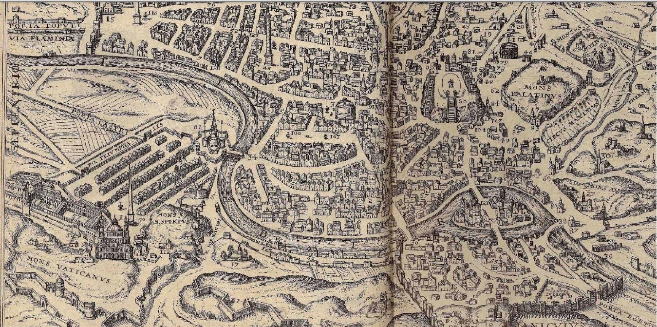 Centro Storico Cartina Geografica Roma.Cartografia Storica Di Roma E Provincia